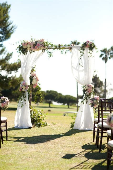 backyard wedding ceremony best 25 outdoor wedding altars ideas on