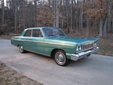 1965 ford fairlane 500 2 door start up exhaust and in