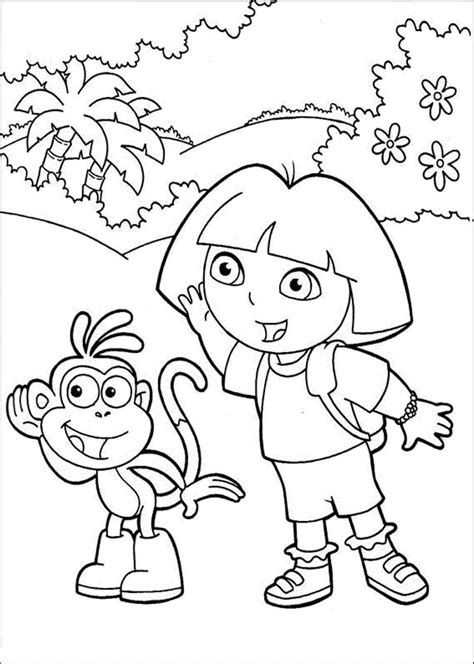 dora cartoon coloring pages dora the explorer pencil coloring pages