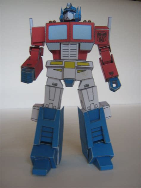 Papercraft Transformers Optimus Prime - g1 optimus prime papercraft by avon tfw2005 the 2005
