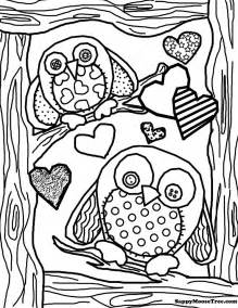 owl coloring pages for adults free coloring pages of owl complicated
