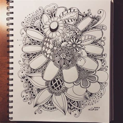 doodle glam drawing 386 best images about zentangled flowers on