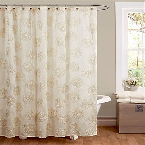 shower curtains bed bath and beyond buy samantha shower curtain in ivory from bed bath beyond
