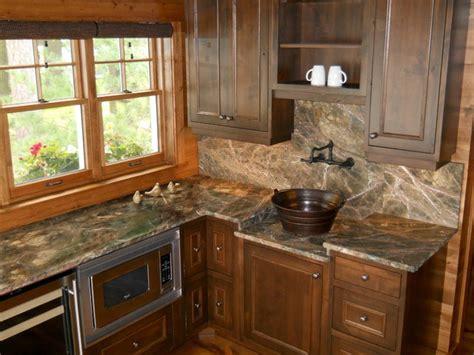 Best Polish For Kitchen Cabinets rainforest green marble kitchen rustic kitchen