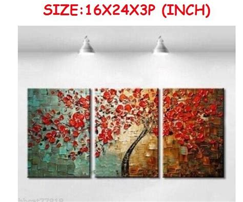 aliexpress com buy unframed 3 sets abstract tree modern canvas wall art home wall decor hd aliexpress com buy 100 hand painted modern abstract