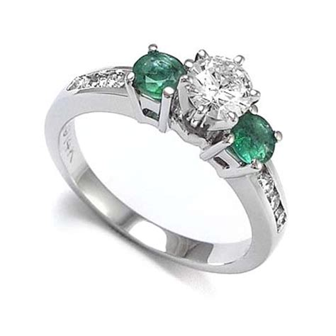 83ct 14k white gold emerald engagement ring ebay