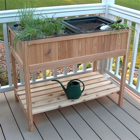 Planter Stands Outdoors by Shop Prairie Leisure Design Garden 32 In Unfinished