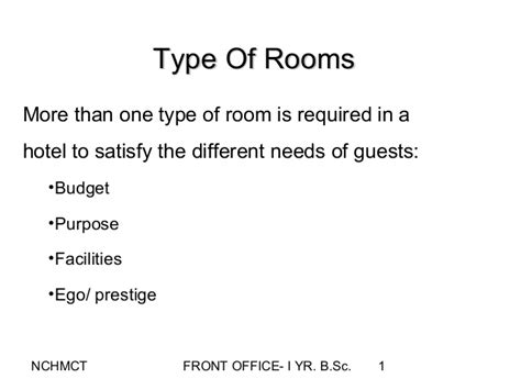type of room in hotels