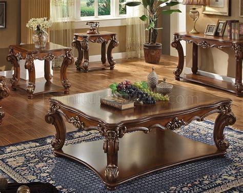 vendome coffee table  cherry  acme woptions