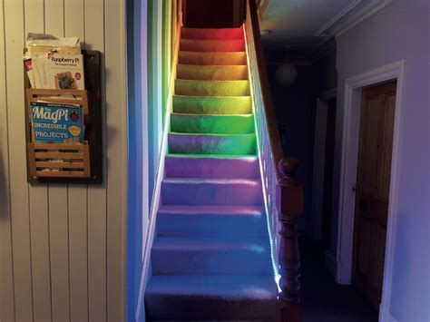 raspberry pi lights temperature controlled stairlights raspberry pi