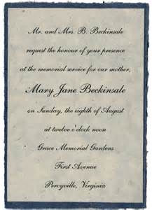 Funeral Invitation Wording Funeral Reception Quotes