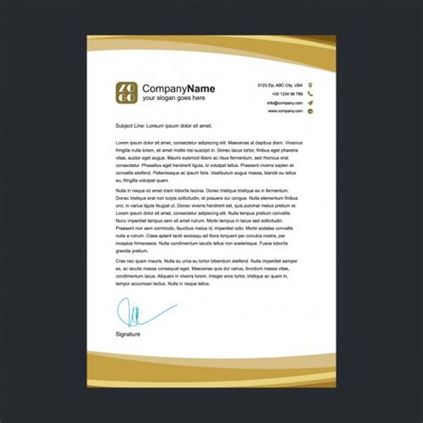 Buku Professional Basic Photography golden letterhead template vector free