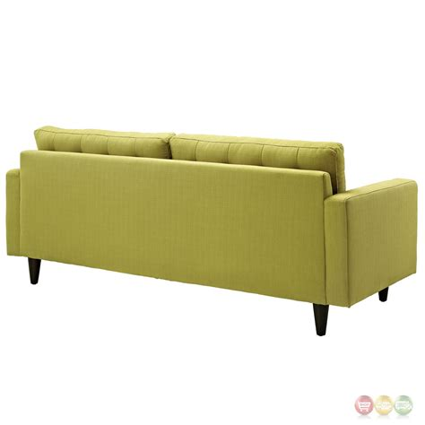Empress Contemporary Button Tufted Upholstered Sofa Contemporary Tufted Sofa