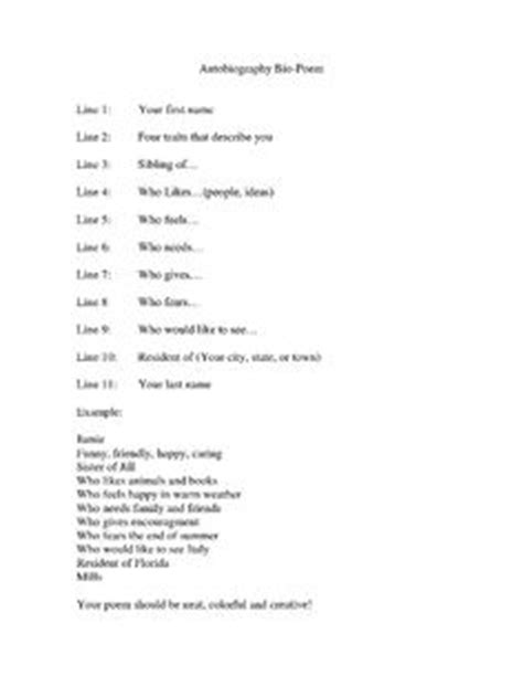 abraham lincoln biography poem freebie bio poem sle student directions perfect