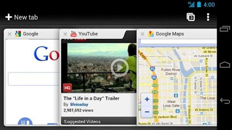 chrome android tabs operating system february 2012