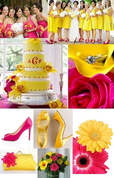 pink and yellow wedding white theme wedding yellow weddings