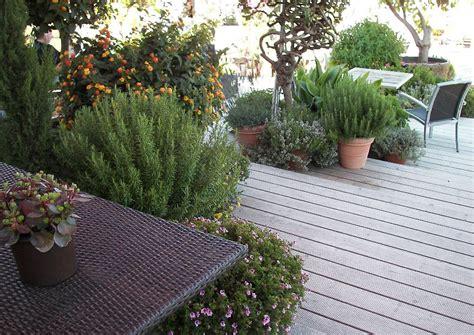 ideen für gartenbeete idee mediterran terrasse