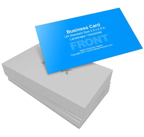 2 X 3 5 Business Card Template Photoshop by Business Card Mockup 3 5 X 2 Cover Actions Premium
