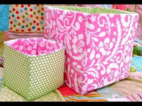 pattern for a fabric box how to sew a fabric box bin viyoutube