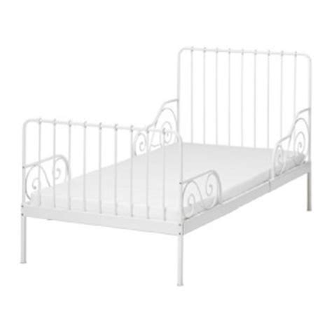 ikea white metal bed frame used ikea minnen extendable white metal childrens bed
