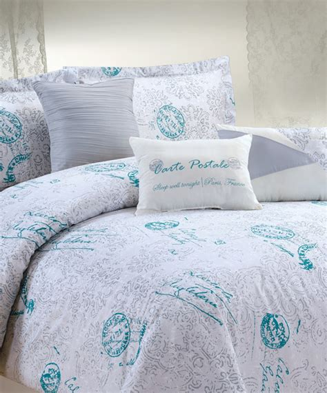 aqua and white bedding white aqua eleanore comforter set contemporary