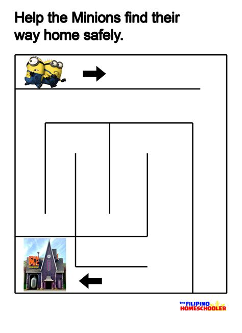 minions free printable activities and free the minions mazes printables the