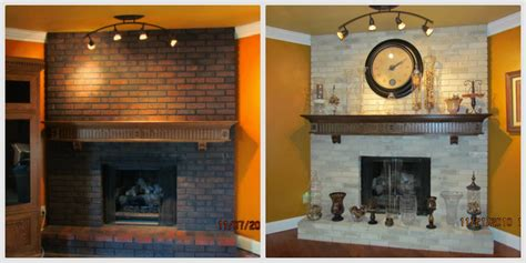 paint brick fireplace before after fireplace painting ideas brick anew
