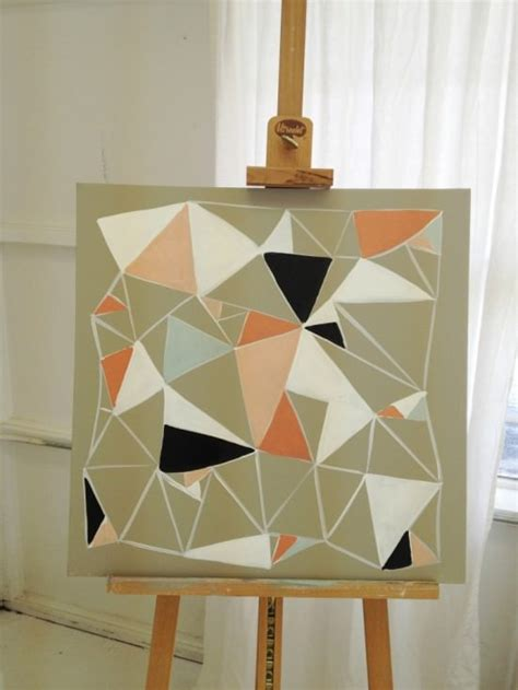 geometric pattern wall canvas 40 crafts to make with trendy patterns tip junkie