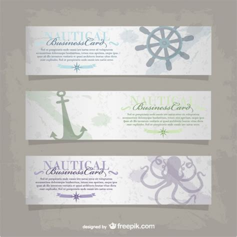 nautical banners vector free download