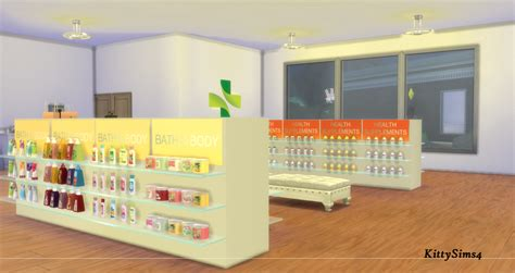 pharmacy clutter sims 4 my sims 4 blog pharmacy shop set by kittysims4