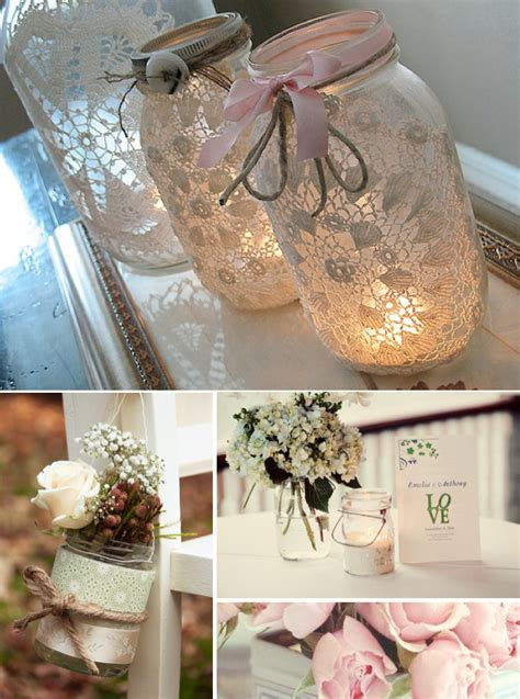 mason jar ideas party decorations table ideas
