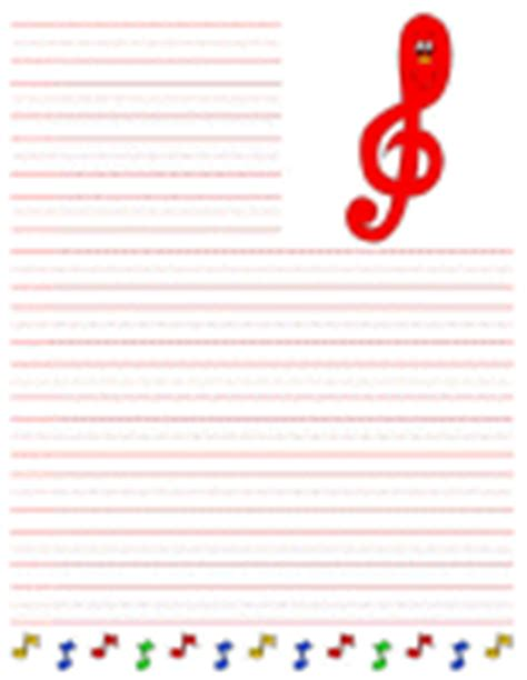 song writing paper crafts