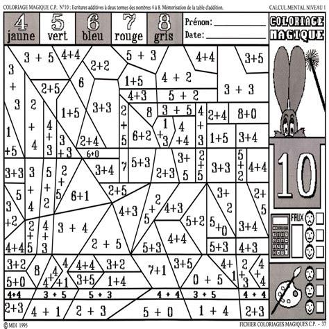 Coloriage Magique Cp Maths Coloriage Magique Maths Cp L