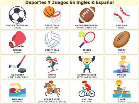 imagenes de juegos en ingles los deportes y los juegos en ingl 233 s en listas e im 225 genes