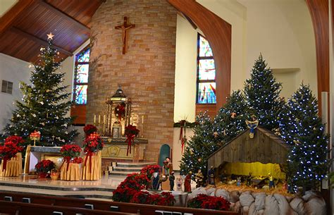christmas decorating ideas for churches photographs our of lourdes church