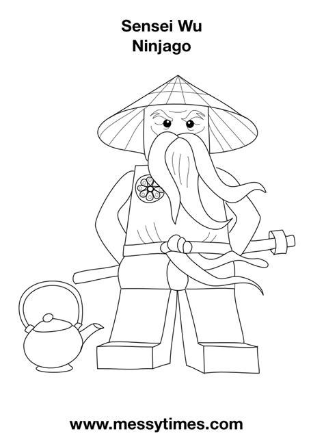 lego ninjago sensei wu coloring pages lego ninjago sensei wu colouring in messy times