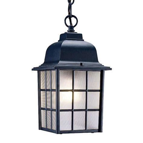 Home Depot Outdoor Light Fixtures Acclaim Lighting Collection 1 Light Matte Black Outdoor Hanging Light Fixture 5306bk