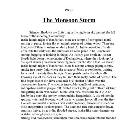 Rainy Season Essay For by Describe A Rainy Day Essay