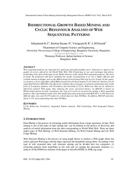 pattern based analysis of bpel4ws bidirectional growth based mining and cyclic behaviour