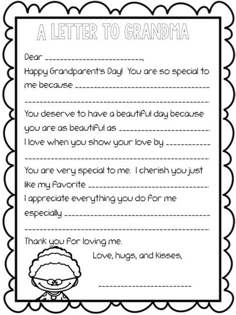Grandparent Fundraising Letter Write A Letter To Or For Grandparent S Day One Included For