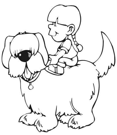 animal coloring funny and cute dog coloring pages