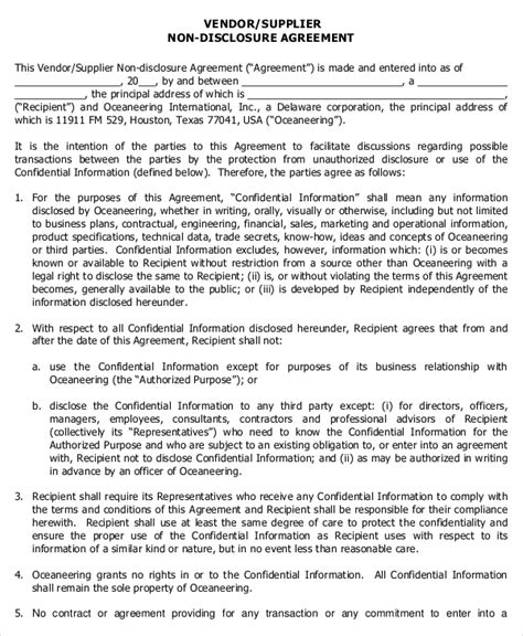sle confidentiality agreement standard confidentiality agreement template 28 images