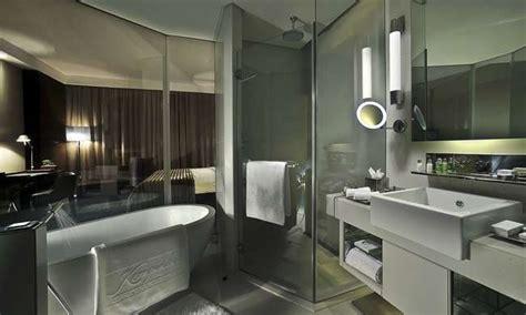 chagne bathtub hotel smart glass shower design smartglass international