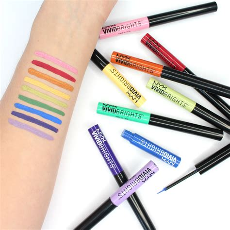 colorful eyeliner colourful eyeliner brights eyeliner by nyx