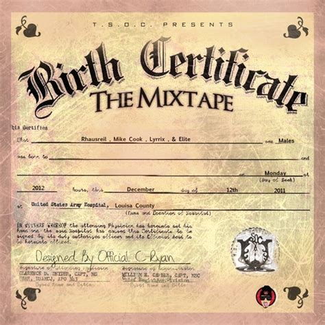 full birth certificate ni t s o c birth certificate mixtape stream download