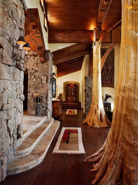 extraordinary tree trunk home interior inspirations