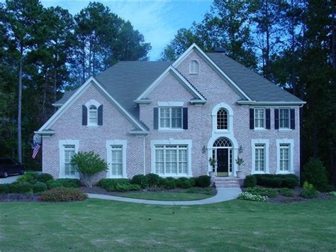 trim color for pink brick house home
