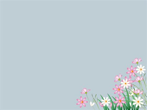Flower Backgrounds For Powerpoint Presentations Romantic Flowers Powerpoint Template
