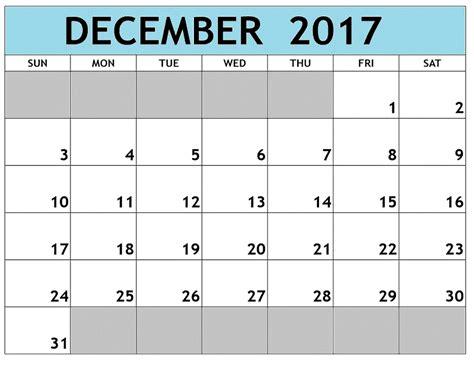 printable calendar of december 2017 december 2017 printable calendar template free printable