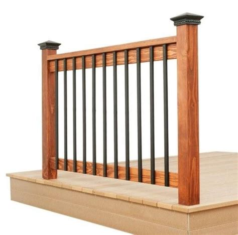 Flat Metal Deck Balusters Deck Rail I If Those Spindles Come In Black Or